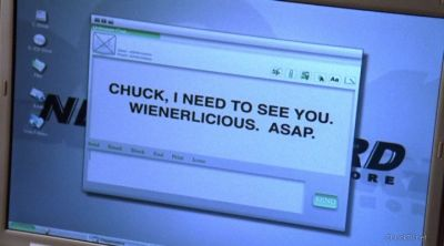 Chuck I need to see you