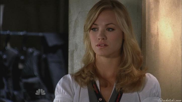 Sarah thinking like Chuck