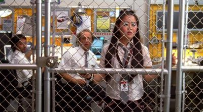Morgan stuck in the cage