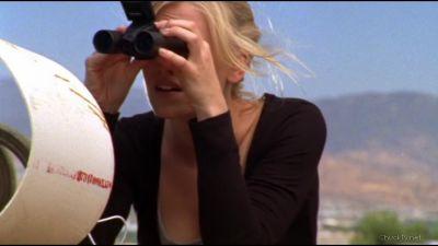 Sarah scoping the perimeter