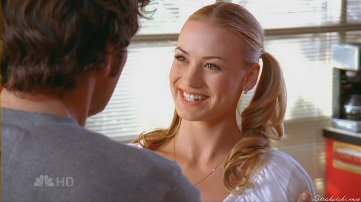 She is always smiling when seeing Chuck