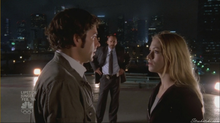 Chuck and Sarah on the helipad