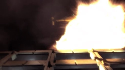 Helicopter exploding