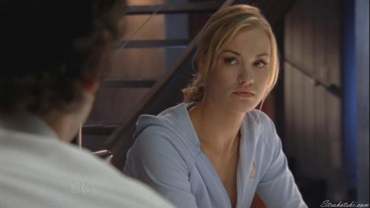 sarah listening to Chuck's complaint