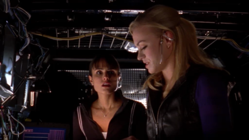 """Jill: """"You have to take me with you!"""" Sarah: """"How do I know I can trust you?"""" Jill: """"You don't, but you need my help and we are the only chance Chuck's got."""""""