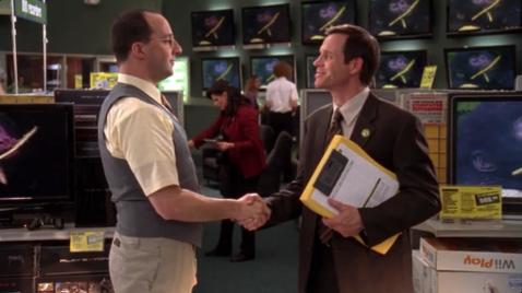 """Mr. Mercer: """"Good luck, Store Manager!"""""""