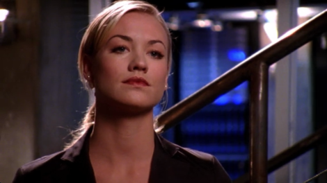"""Casey: """"If you run or double-cross us, your deal is void. Plus, as an added bonus, she'll shoot you."""""""