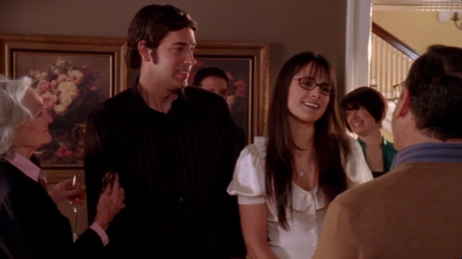"""Jill's father: """"There they are, Mr. and Mrs. Bartowski!"""""""