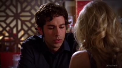 Chuck flirting with Sarah