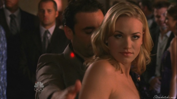 Sarah making sure Chuck was watching her dance