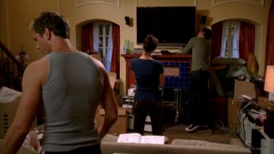 Chuck fixing the television