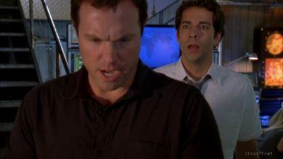 Chuck  panicking about Devon