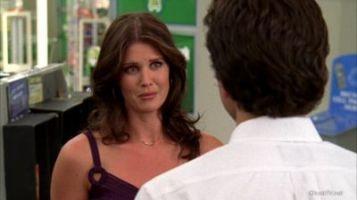 Ellie listening to Chuck's dishonesty