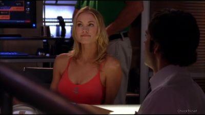 Sarah smiles when seeing Bryce