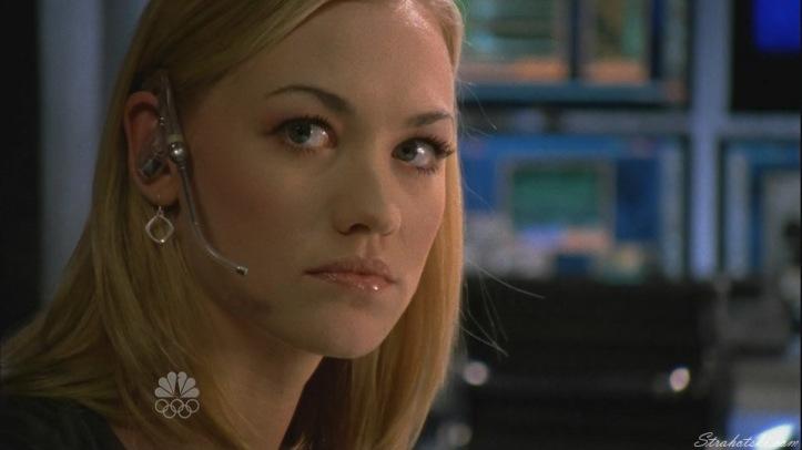 Sarah watching Chuck Spiraling
