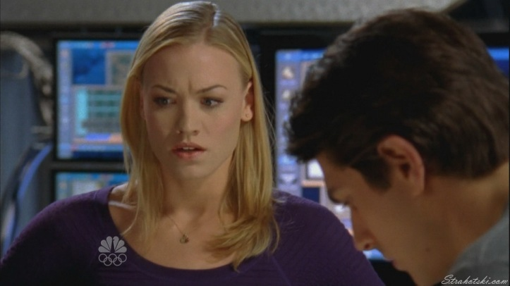 Sarah worried about Chuck on the plane