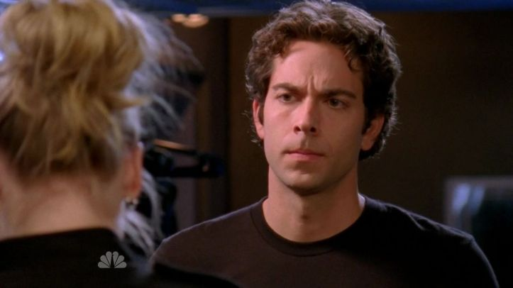 Chuck listening to Sarah about spying