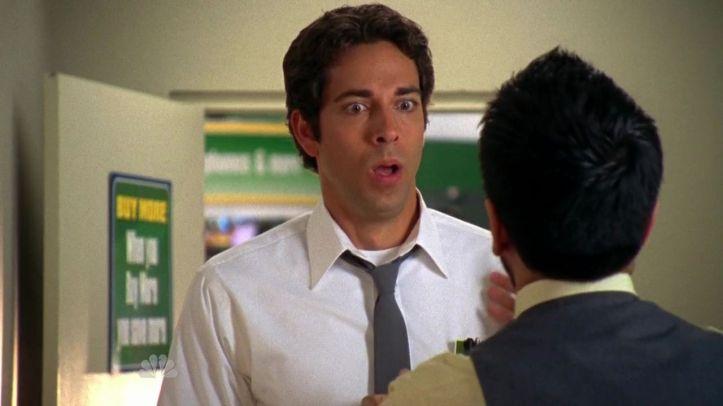 Chuck's reaction to Morgan finding Castle