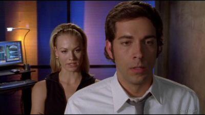 Chuck watching Jill get questioned