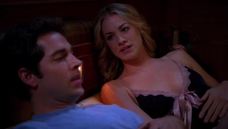 """Sarah: """"Chuck, I can't fake this, not with you."""" Chuck: """"What?!? You've been faking it this whole time?"""" Sarah: """"No, not that. I spotted a Basque terrorist on board."""""""