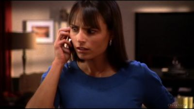 Jill listening to Chuck talk about having sex with Sarah