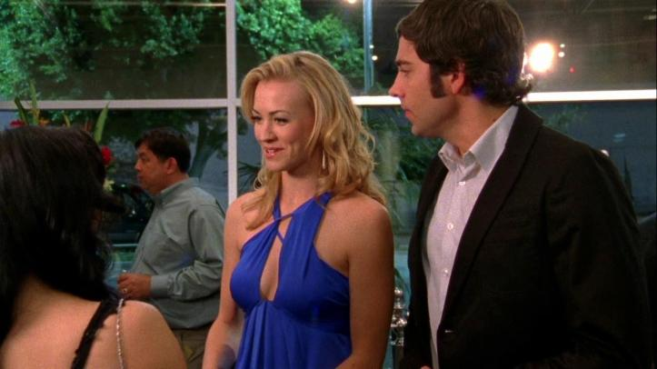 Beautiful blue dress worn by Sarah in this episode