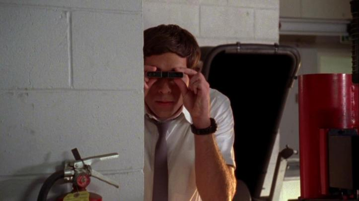 Chuck spying on Lau and crew
