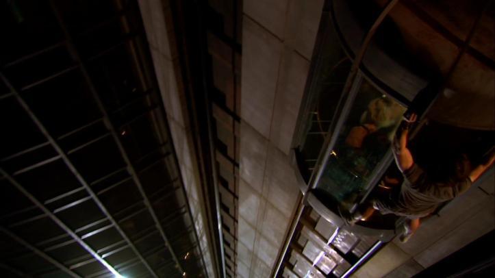 Chuck stuck on the Elevator