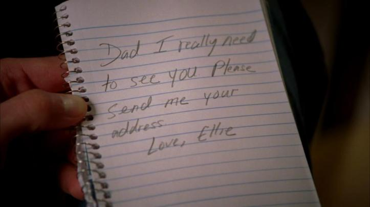 Ellie's message to Dad