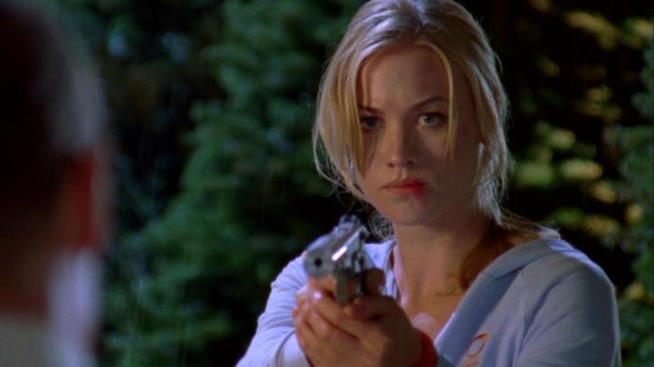 Sarah listening to Mauser's banter