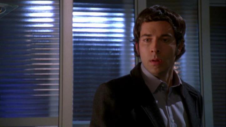 Chuck realizing that he made a mistake with breaking up with Sarah