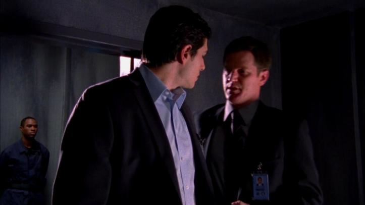 Justin telling Shaw about Bartowski finding their base
