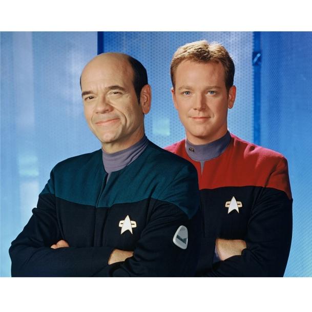 Robert Duncan and Robert Picardo in Star Trek