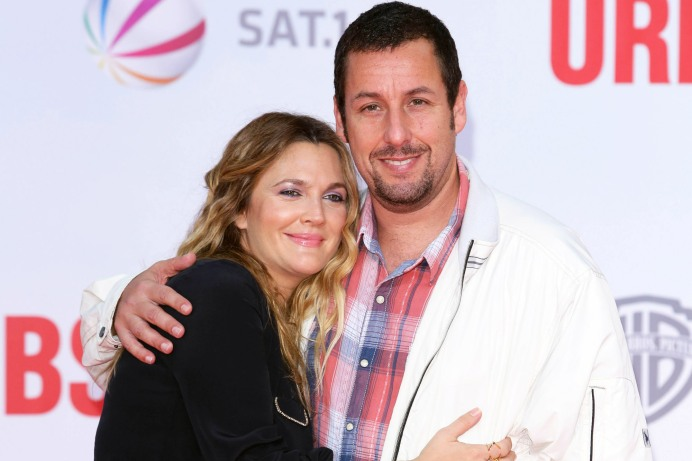USA Rights Only-Berlin, Germany - 5/19/2014 - World Premiere of Blended at the Cinestar  -PICTURED: Drew Barrymore and Adam Sandler -PHOTO by: James Coldrey/Action Press/startraksphoto.com -APGv_148042 Editorial - Rights Managed Image - Please contact www.startraksphoto.com for licensing fee Startraks Photo New York, NY For licensing please call 212-414-9464 or email sales@startraksphoto.com